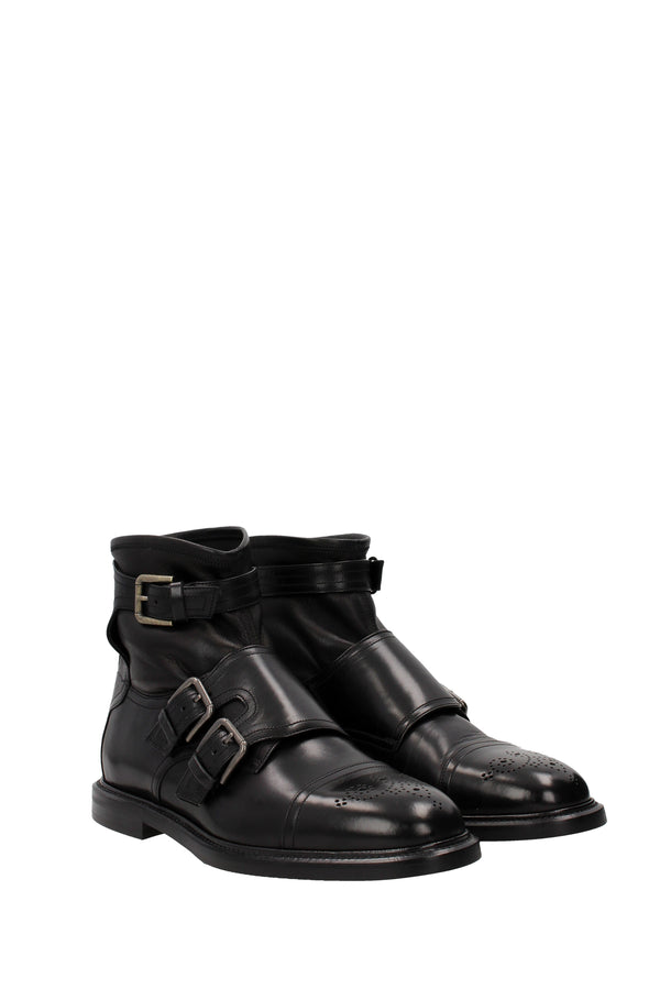 Dolce&gabbana Ankle Boots  Men Black