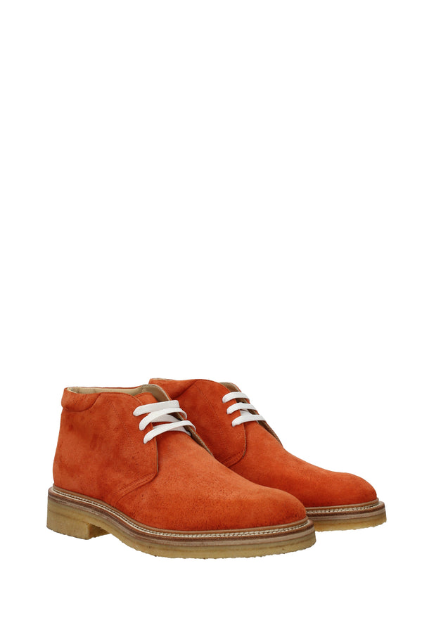 Kiton Ankle Boots  Men Orange