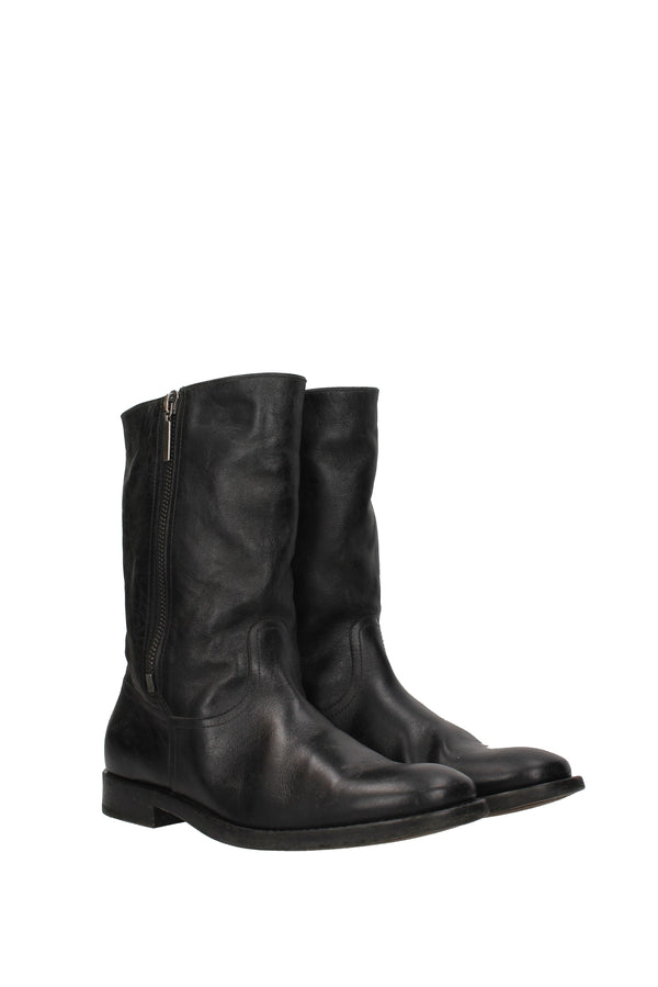 Saint Laurent Ankle Boots  Matt Men Black