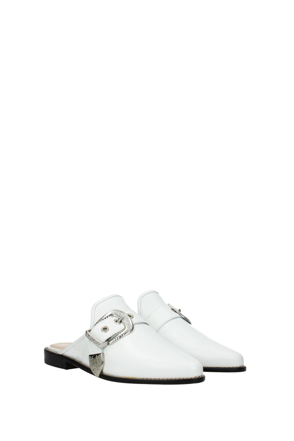 Stuart Weitzman, White Slippers and clogs  ryan