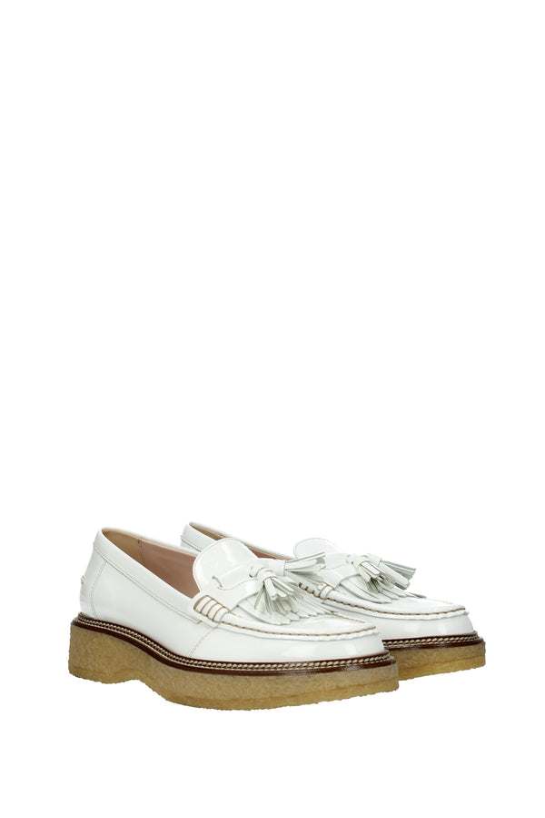 Tod's, Loafers  Women White