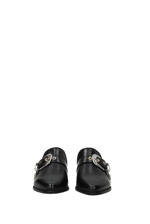 Stuart Weitzman, Black Slippers and clogs  ryan