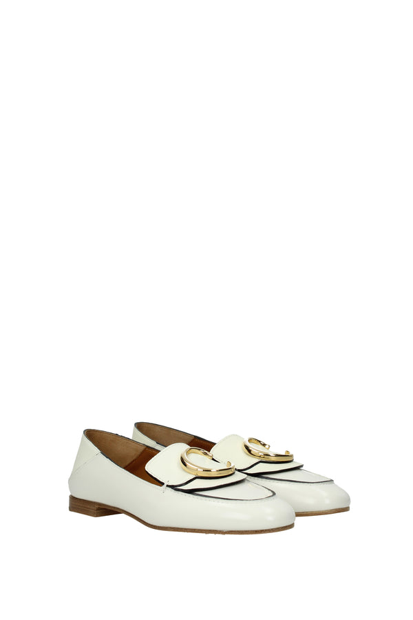 Chloé White Loafers