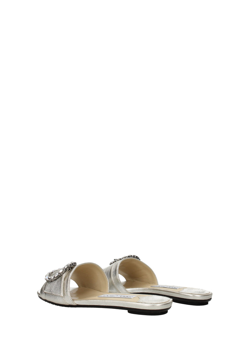 Jimmy Choo, Slippers And Clogs  Granger Women Silver