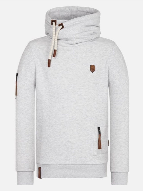 Plain Pullover Patchwork Slim Casual Hoodies
