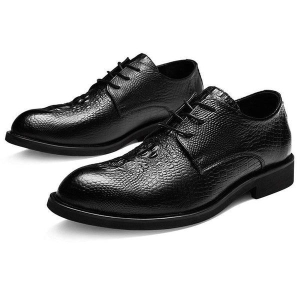 Plain Low-Cut Upper Round Toe Leather Shoes