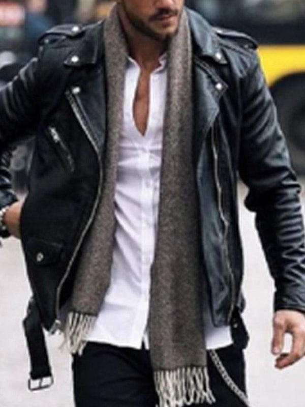 Zipper Plain Lapel Zipper Casual Jacket