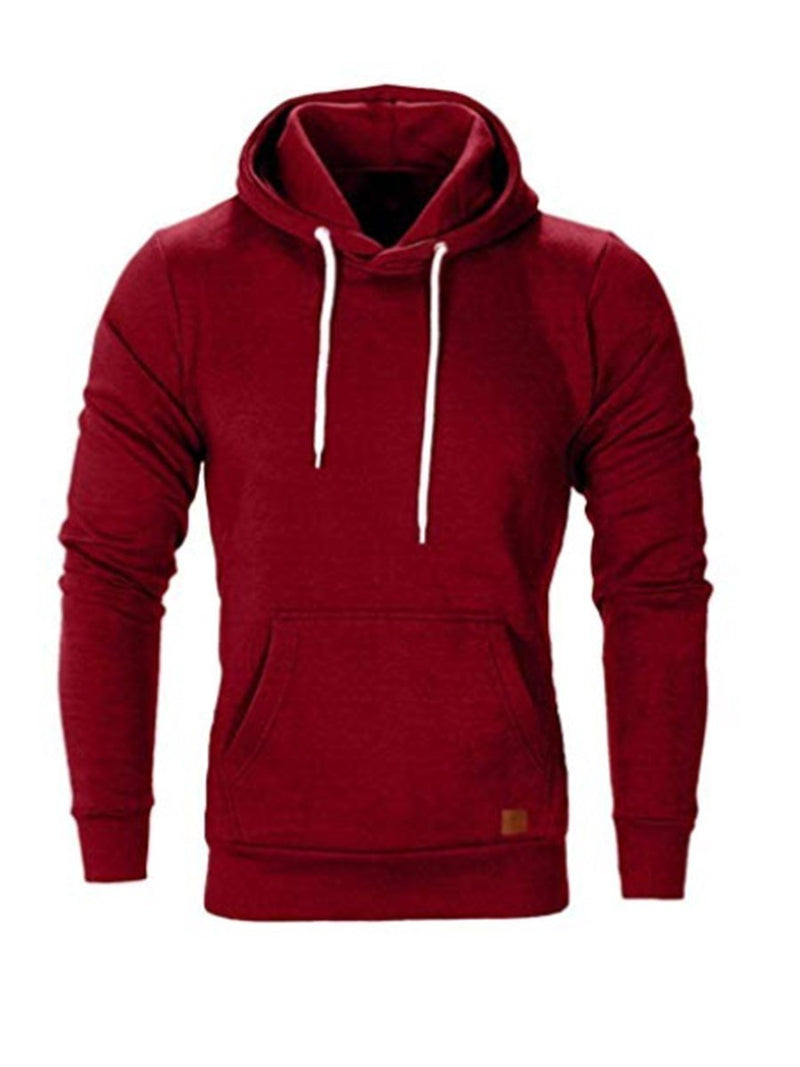 Pullover Pocket Plain Pullover Loose Hoodies