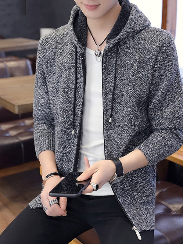 Standard Hooded Plain European Loose Sweater