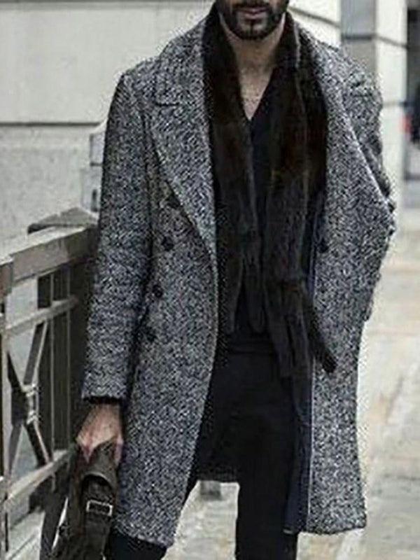 Button Plain Long Straight Fashion Coat