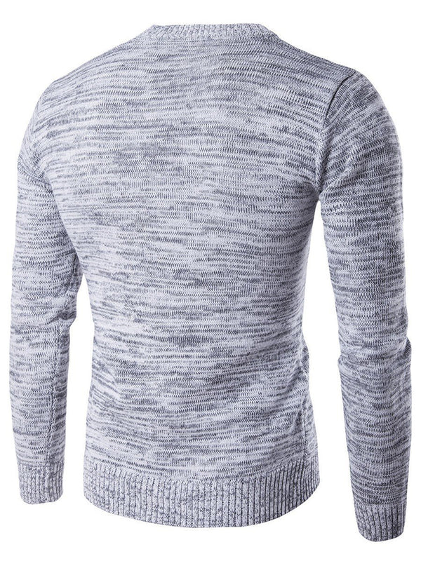 Plain Standard Round Neck England Slim Sweater