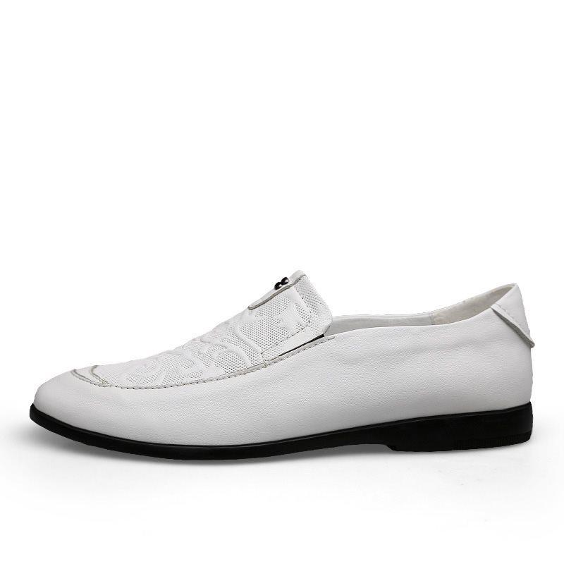 Low-Cut Upper Plain Round Toe Leather Shoes