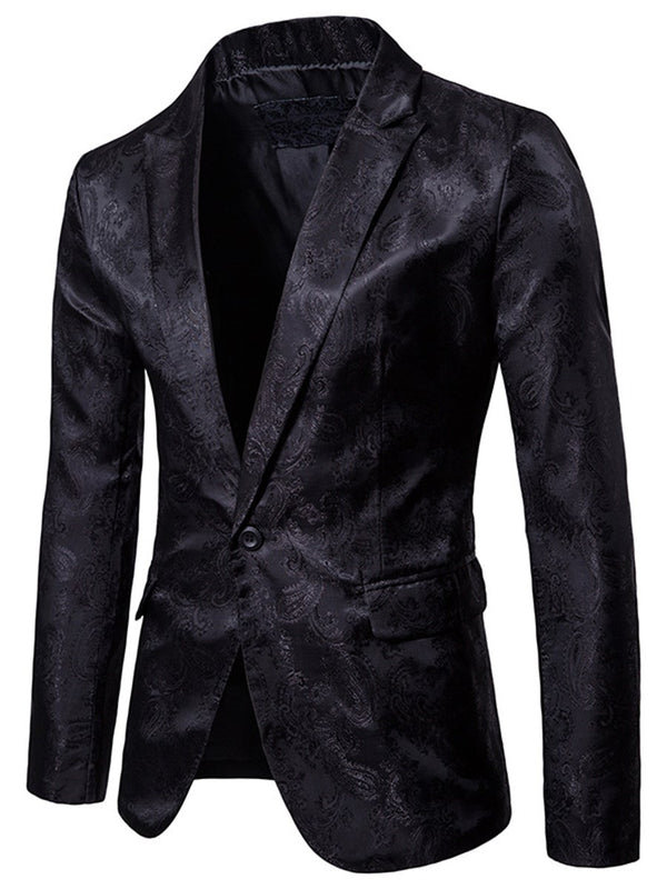 Lapel Straight Plain Blazer