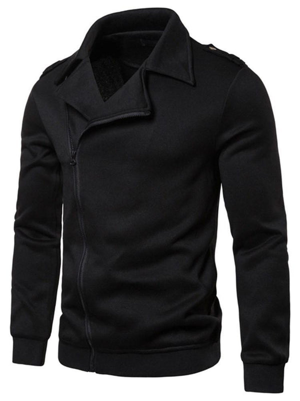 Plain Cardigan Zipper Zipper Slim Hoodies