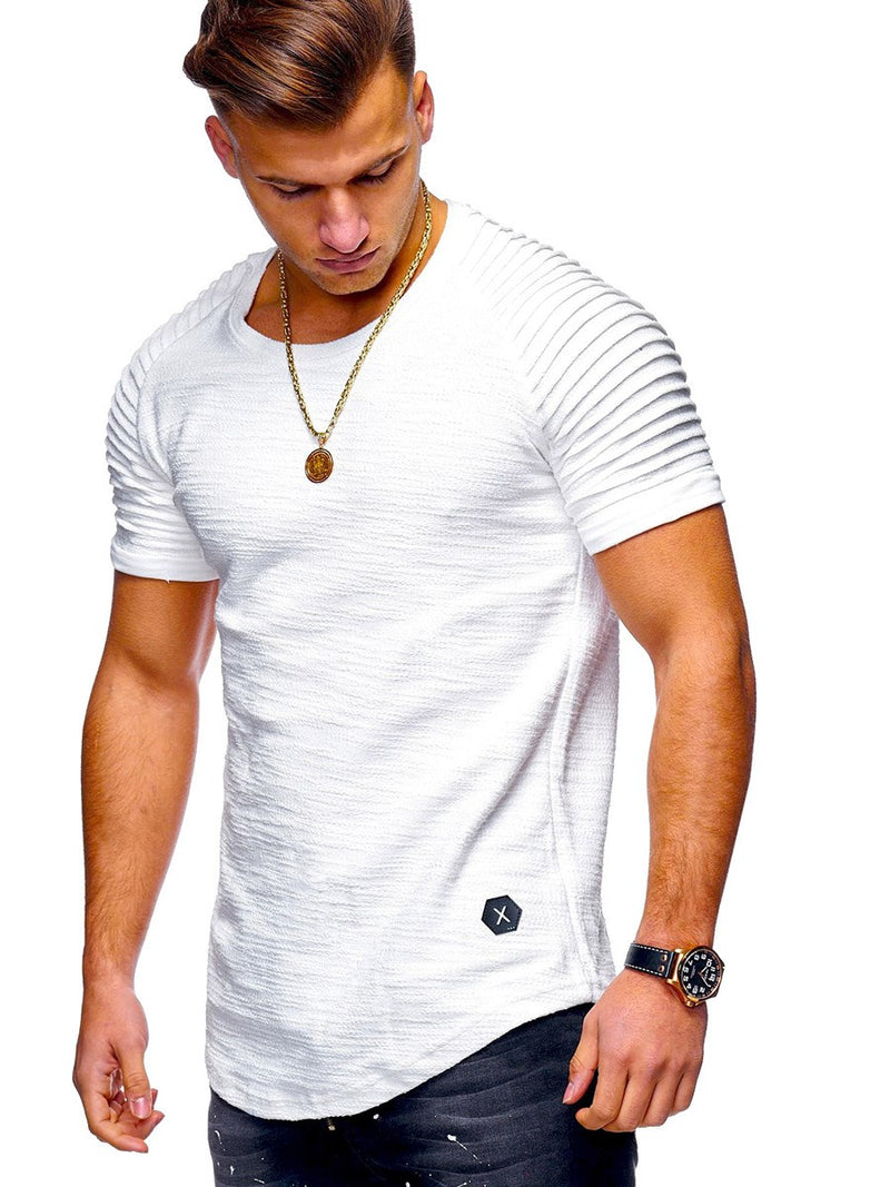 Plain Slim Short Sleeve T-shirt