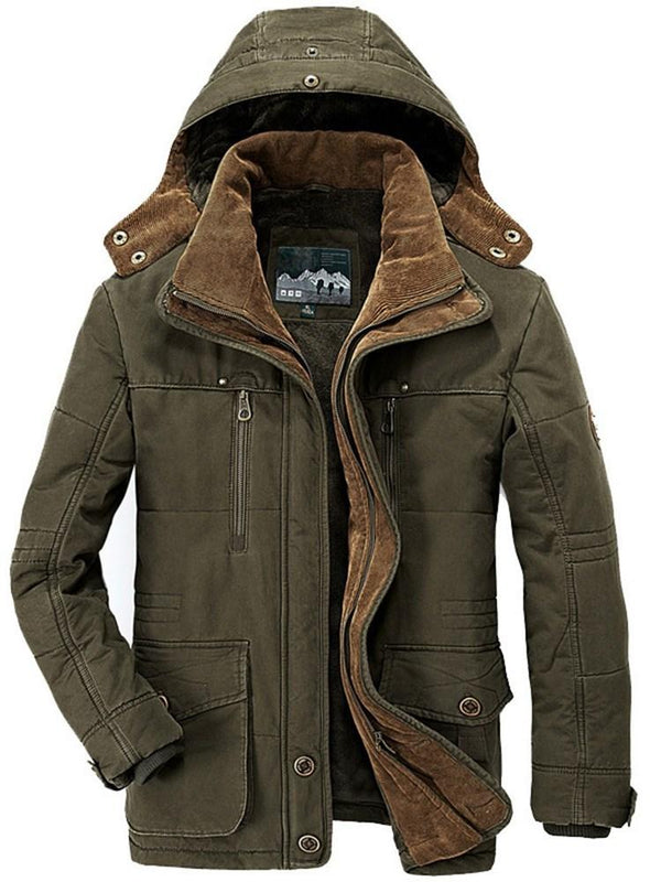 Standard Plain Stand Collar European Zipper Down Jacket