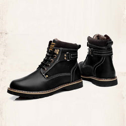 Lace-Up Front Plain Round Toe Flat With PU Boots
