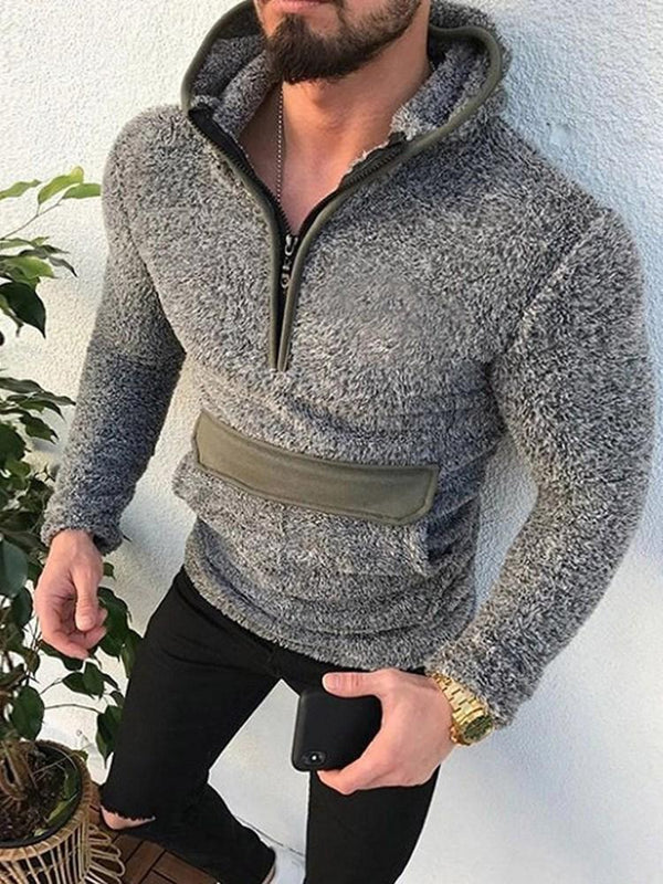 Pocket Pullover Color Block Hooded Pullover Hoodies