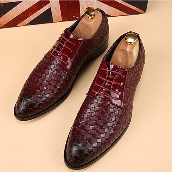 Flat With Low-Cut Upper Plain Pointed Toe PU Leather Shoes