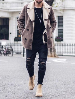 Mid-Length Button Casual A Line Coat