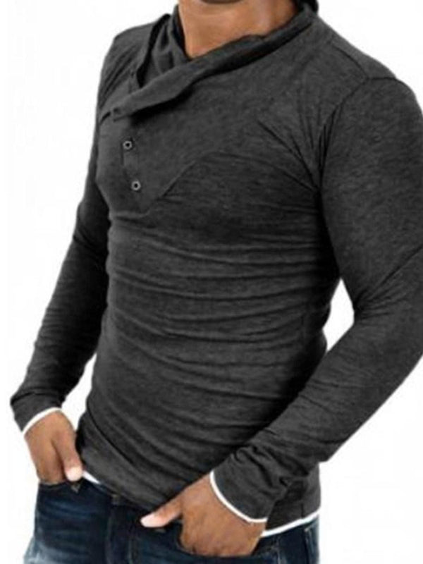 Plain Button Pullover Pullover Spring Hoodies