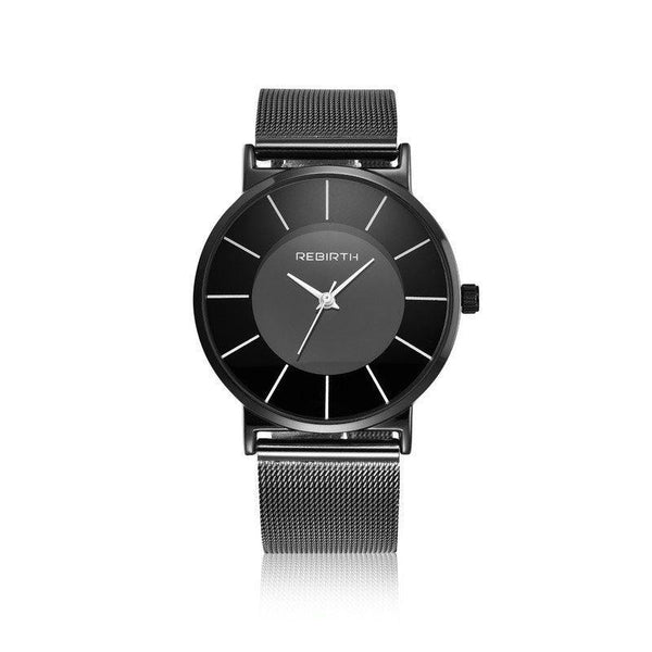 Water Resistant Glass Quartz Watches