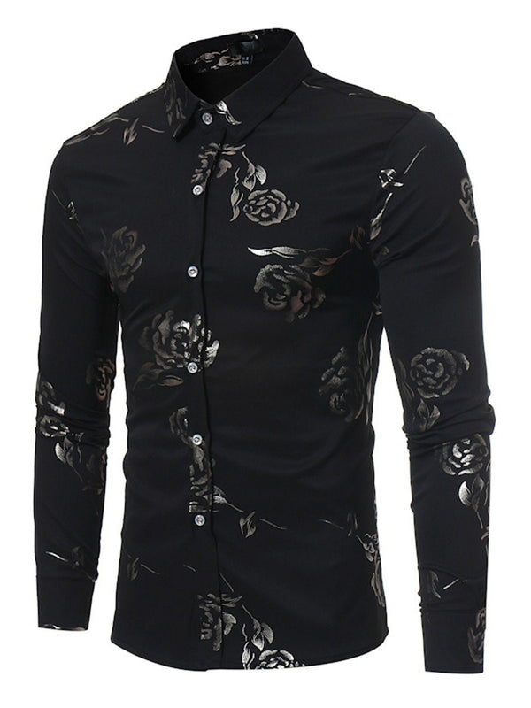 Floral Print Lapel Spring Single-Breasted Shirt