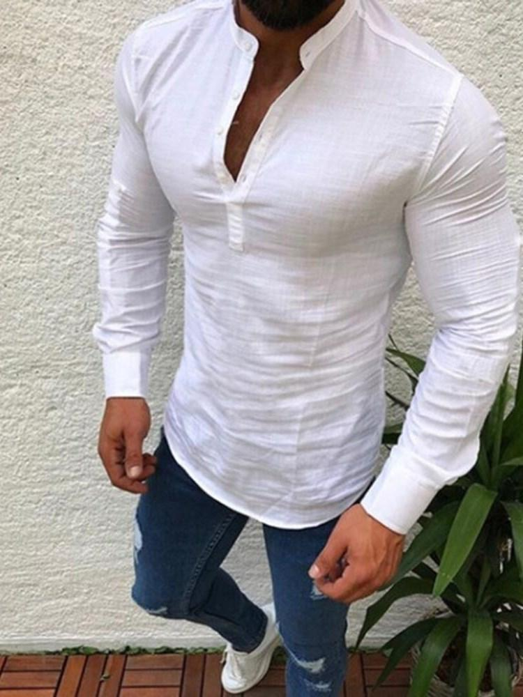 Plain Slim Fall Shirt