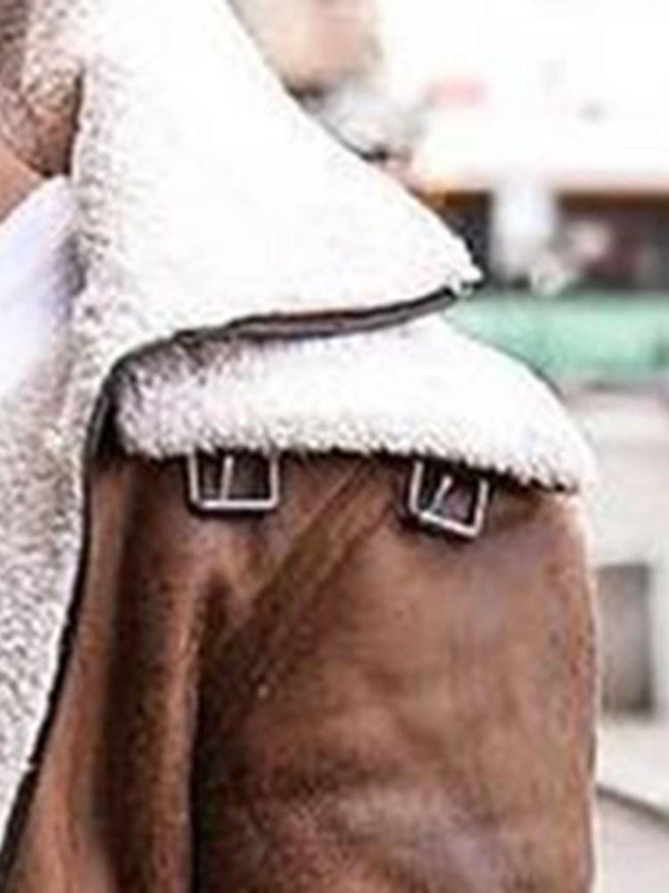 Patchwork Stand Collar Winter Fashion Jacket