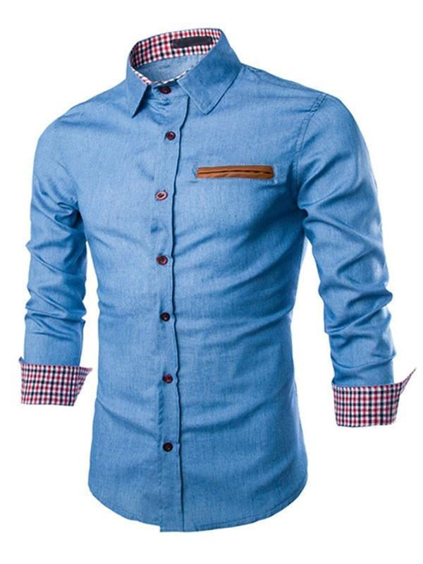 Casual Lapel Plaid Winter Single-Breasted Shirt