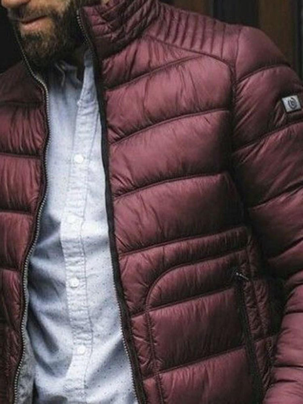 Turtleneck Standard Zipper Zipper Casual Down Jacket