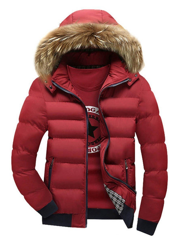 Plain Hooded Standard Zipper Down Jacket