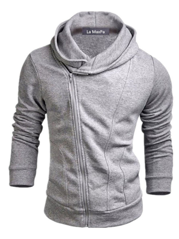 Plain Cardigan Regular Hooded Slim Hoodies