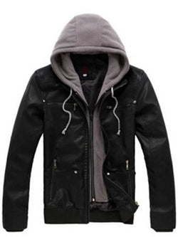 Plain Hooded Slim Zipper Jacket