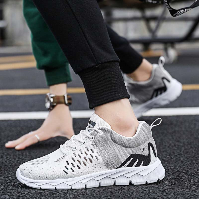 Lace-Up Low-Cut Upper Flat With Hollow Round Toe Sneakers