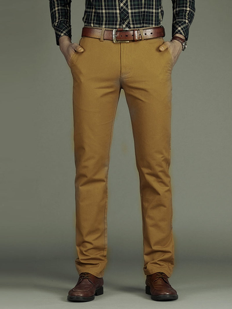 Straight Plain Summer Mid Waist Casual Pants