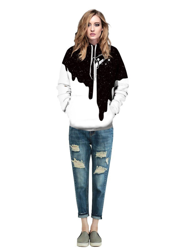 3D Regular Pullover Loose Round Neck Hoodies