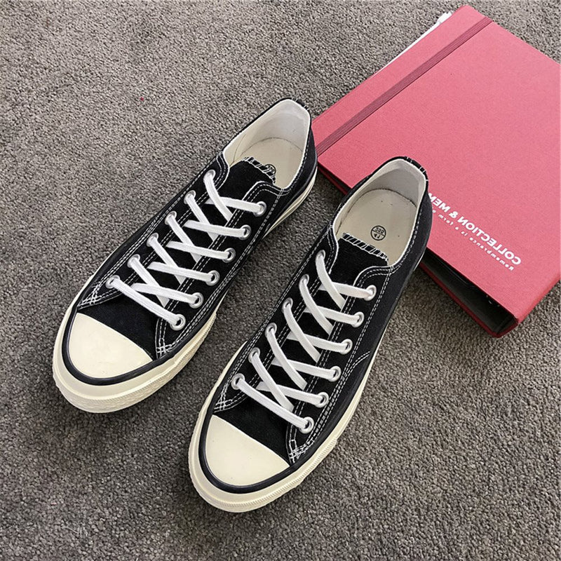 Low-Cut Upper Flat With Lace-Up Round Toe Skate Shoes