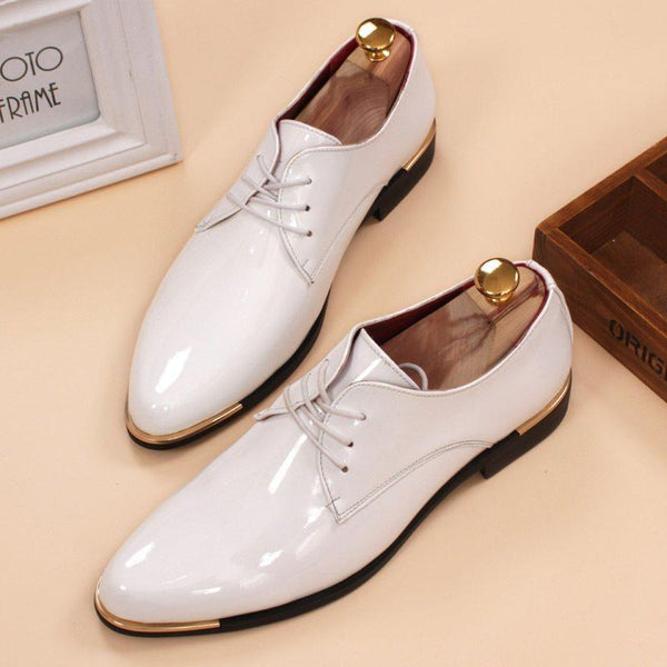 Low-Cut Upper Plain Round Toe PU Leather Shoes
