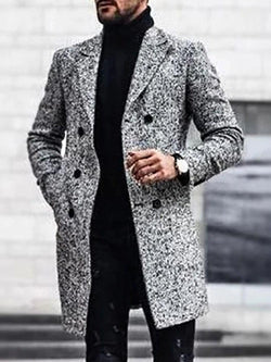 Button Mid-Length Winter Casual Coat