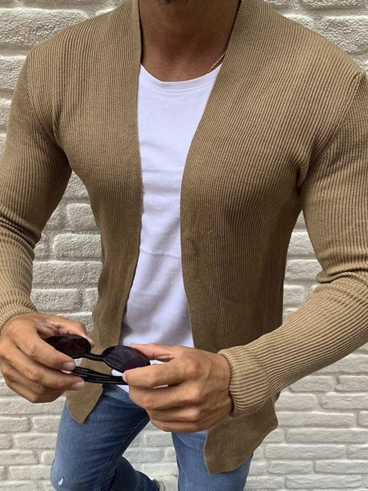 Plain Mid-Length Casual Fall Sweater