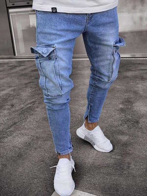 Zipper Zipper Casual Jeans