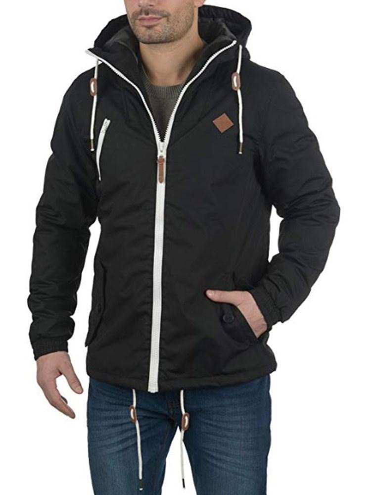 Plain Hooded Pocket Winter Loose Jacket