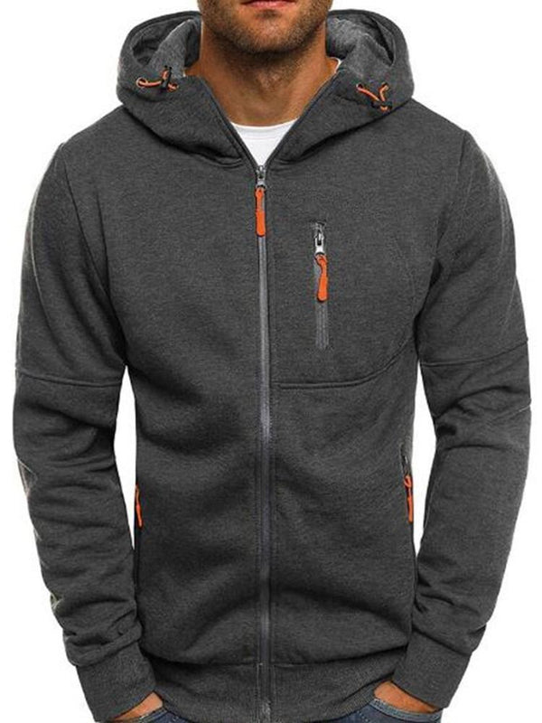 Thick Cardigan Zipper Zipper Fall Hoodies