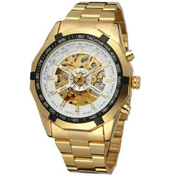 Mechanical Hand Wind Hardlex Round Watches
