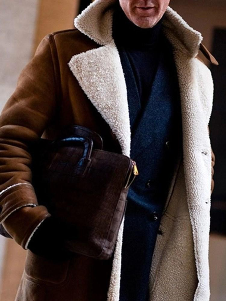 Mid-Length Button Casual Winter Coat
