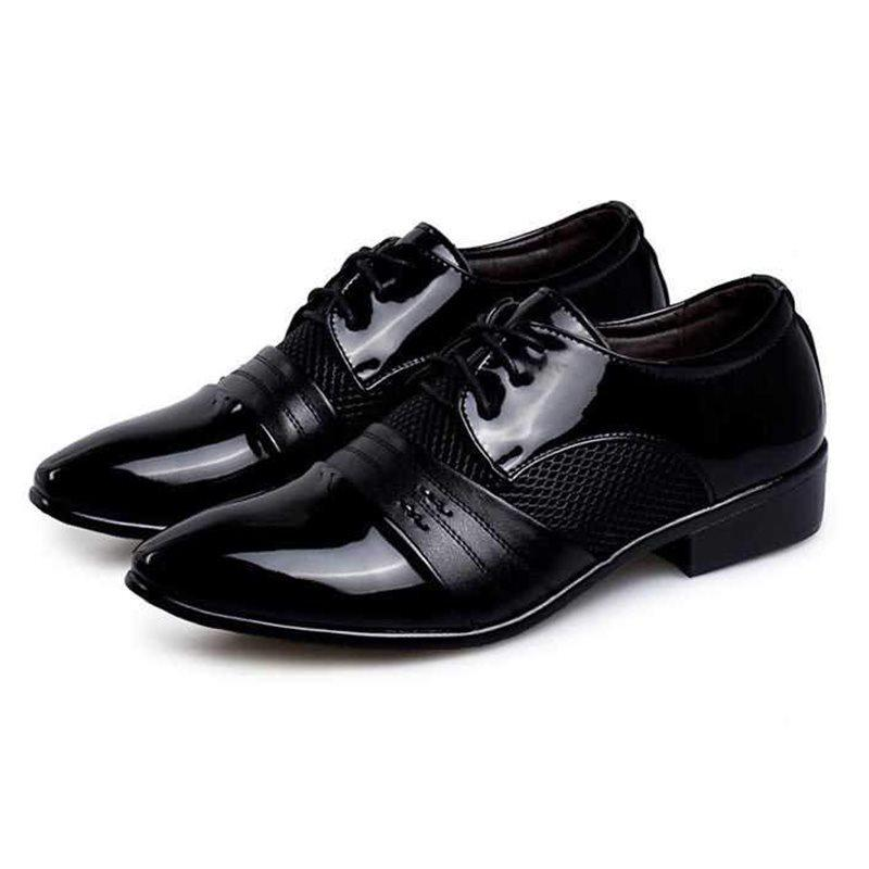 Low-Cut Upper Round Toe PU Leather Shoes