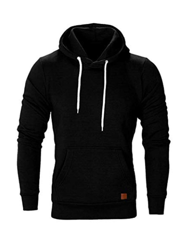 Pocket Plain Pullover Pullover Hooded Hoodies
