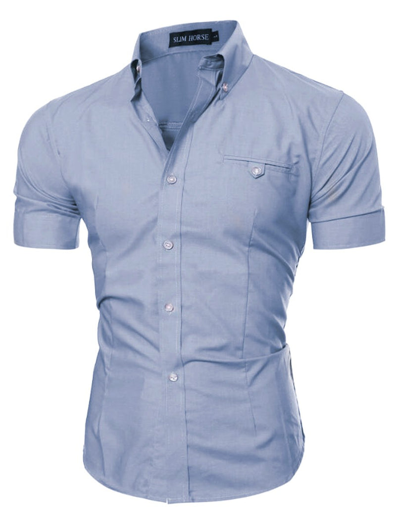 Plain Summer Slim Shirt
