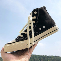 High-Cut Upper Flat With Lace-Up Round Toe Skate Shoes